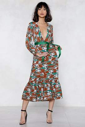 Nasty Gal Give It a Tie Floral Dress