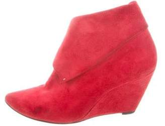 Sigerson Morrison Suede Wedge Booties