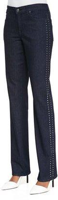 CJ by Cookie Johnson Faith Studded Straight-Leg Jeans $195 thestylecure.com