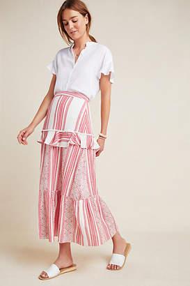 HEMANT AND NANDITA Pixie Tiered Maxi Skirt