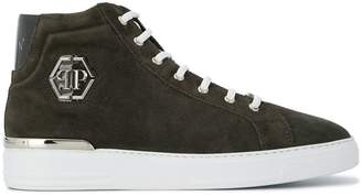 Philipp Plein Hexagonal hi-top sneakers