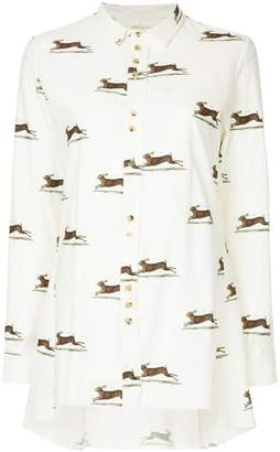 Aleksandr Manamis print fitted shirt