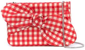 Loeffler Randall Cecily gingham-print clutch