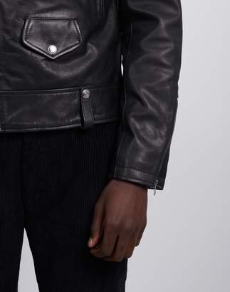 Schott NYC LC Enfield Leather Jacket Black