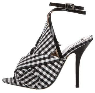 No.21 No. 21 Knot-Accented Peep-Toe Sandals