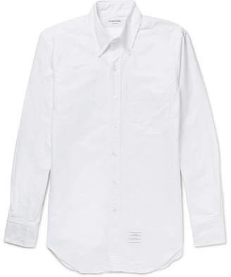Thom Browne Slim-Fit Button-Down Collar Cotton Oxford Shirt - Men - White