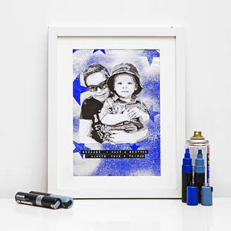 Hidden Image Direct Personalised Stencil Portrait With Stars Background