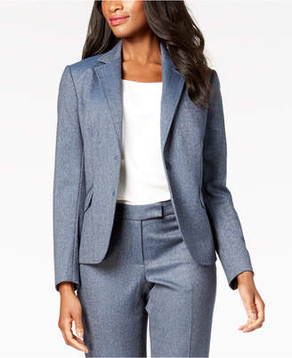 Anne Klein Two-Button Mini Herringbone Jacket, Created for Macy's
