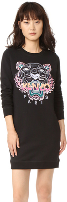 KENZO Embroidered Tiger Sweatshirt Dress $355 thestylecure.com