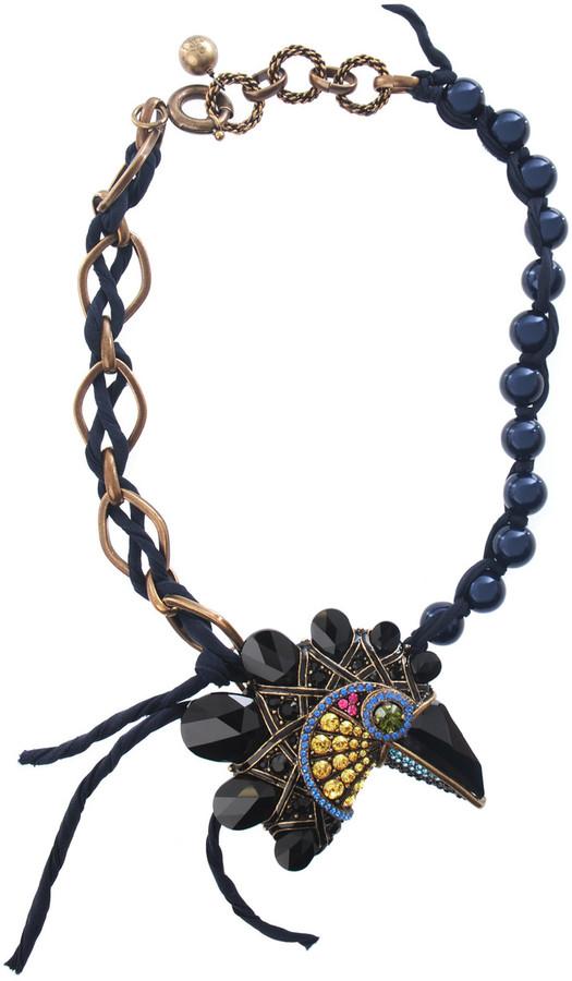 Lanvin Crystal toucan necklace