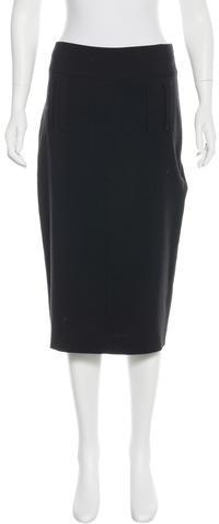 Ann DemeulemeesterAnn Demeulemeester Wool Knee-Length Skirt w/ Tags