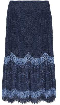 Jonathan Simkhai Two-Tone Corded Lace Midi Skirt