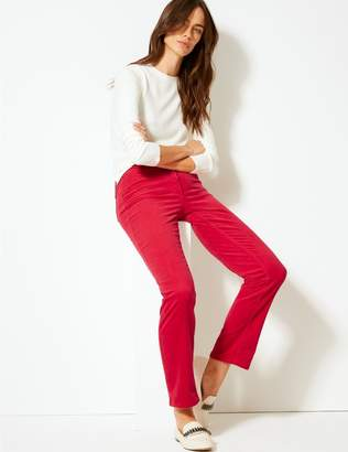 Marks and Spencer Corduroy Straight Leg Trousers