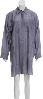 Acne Studios Striped Button-Up Shirt Dress