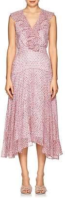 Saloni Women's Rita Floral Silk Midi-Dress - Pink