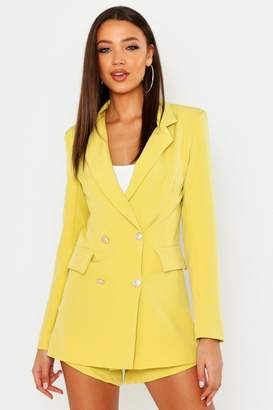 boohoo Tall Button Detail Tailored Blazer