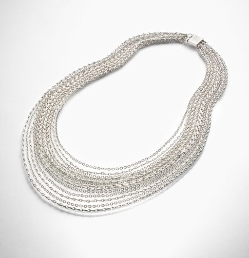 Long Thin Multi-Chain Necklace