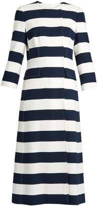Dolce & Gabbana Striped double-breasted cady coat