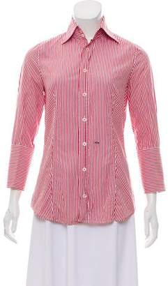 DSQUARED2 Striped Button-Up Top