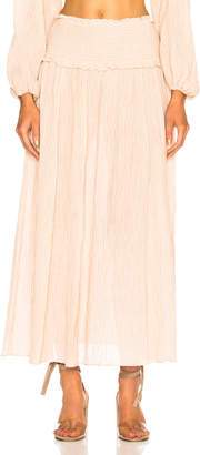Zimmermann Bayou Shirred Long Skirt