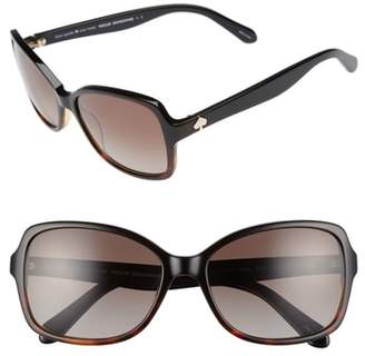 Kate Spade Ayleen 56mm Polarized Sunglasses