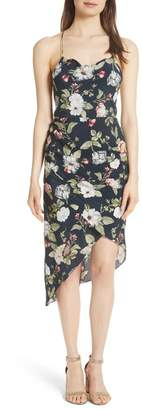 Alice + Olivia Reen Drape Front Sheath Dress