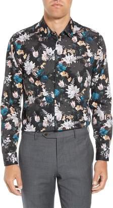 Ted Baker Rhubarb Modern Fit Floral Dress Shirt