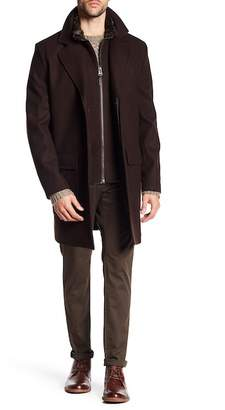 Cole Haan Melton Topcoat with Removable Bib