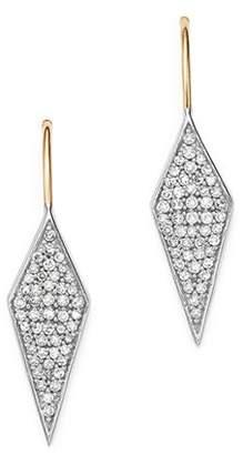 Adina Sterling Silver & 14K Yellow Gold Long Pavé Diamond Earrings