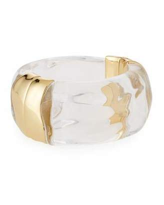 Alexis Bittar Liquid Side Hinge Cuff Bracelet, Clear $375 thestylecure.com