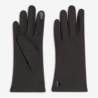 Joe Fresh Women's Faux Leather Gloves, Black (Size L/XL)