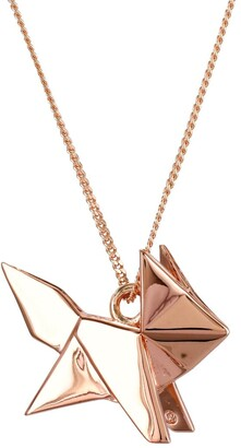 Origami Jewellery Fox Necklace Rose Gold
