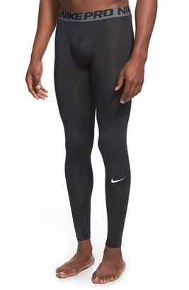 Men's Nike 'Pro Cool Compression' Four-Way Stretch Dri-Fit Tights $35 thestylecure.com