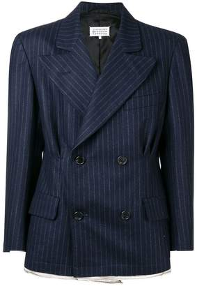 Maison Margiela double breasted pinstripe blazer