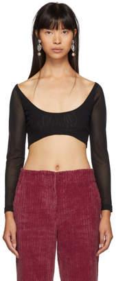 Molly Goddard Black Katie Cropped T-Shirt