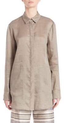 Lafayette 148 New York Silky Button-Up