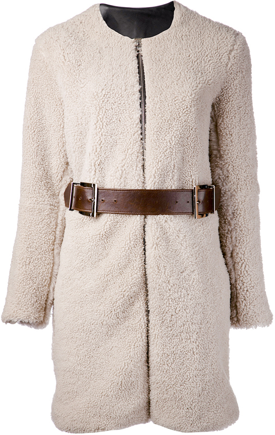 ADAM by Adam Lippes Shearling Cocoon Coat