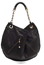 Bally Leather Zip Pocket Slouch Handbag