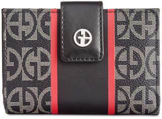 Giani Bernini Block Signature Stripe Frame Wallet, Created for Macy's