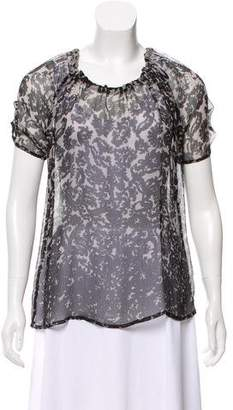 Joie Printed Silk Top w/ Tags