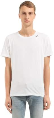 Saint Laurent Signature Cotton Jersey T-Shirt