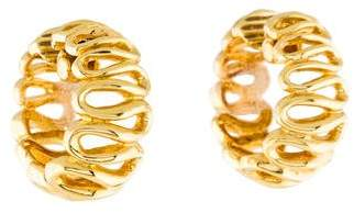18K Wavy Hoop Earrings