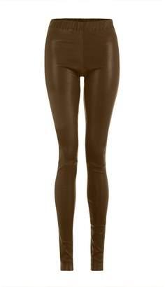 ELLESD - Light Brown Leather Leggings