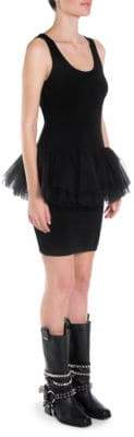 Moschino Tulle Waist Knit Tank Dress