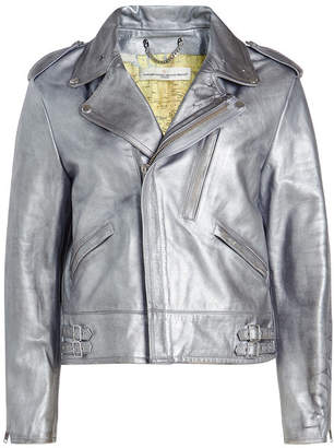 Golden Goose Metallic Leather Biker Jacket