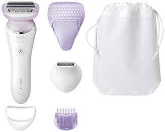 Philips BRL170/00 SatinShave Prestige Wet and Dry Electric Shaver, White/Purple
