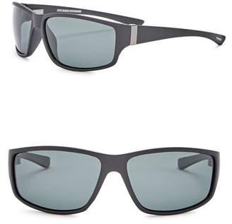 Steve Madden 62mm Wrap Polarized Acetate Frame Sunglasses
