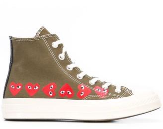 Comme des Garcons x Converse Chuck Taylor multi heart 1970s hi-top sneakers