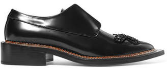 Simone Rocha Appliquéd Crystal-embellished Leather Brogues - Black