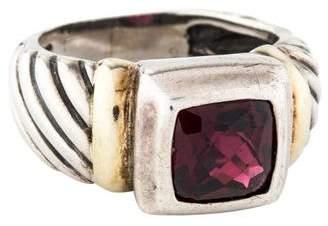 David Yurman Garnet Cable Cocktail Ring